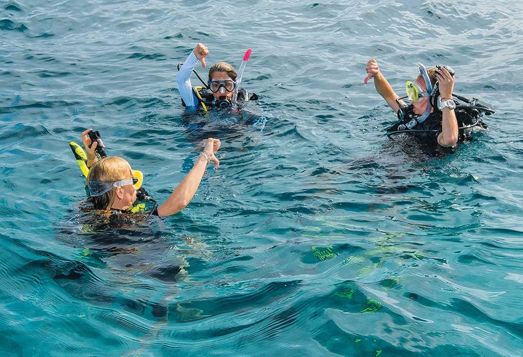 Live boating scuba skill