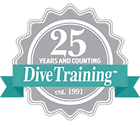 Dive Training 25th anniversary seal