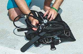 Disassembling a Scuba Unit