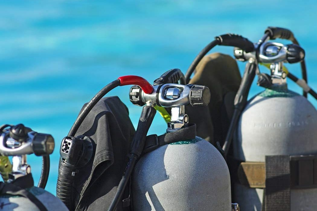 scuba tanks