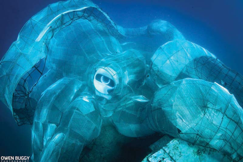 Kraken sinking - Photo by Owen Buggy