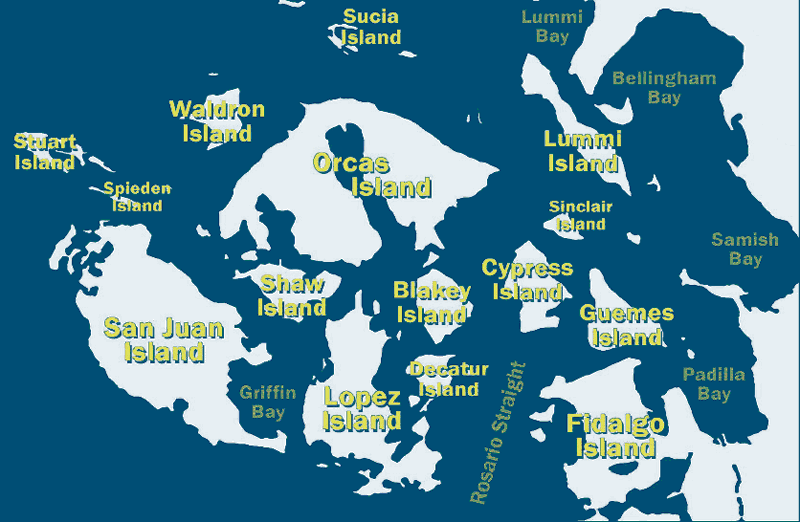 Map of San Juan Islands