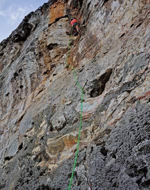Cayman Brac rock climbing