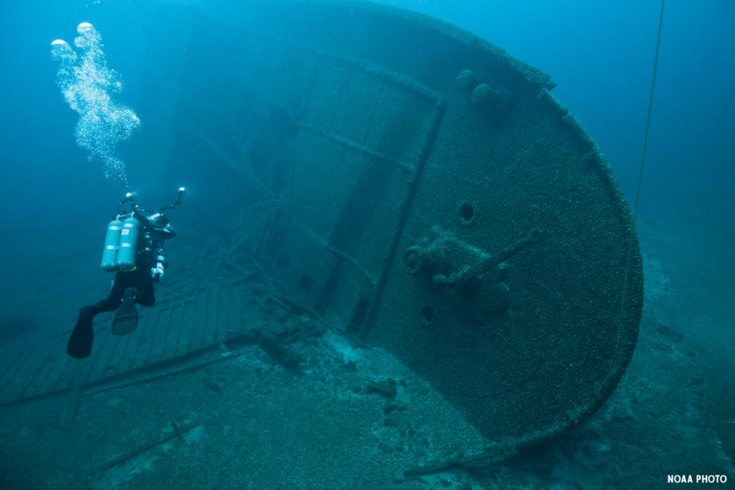 Best Shipwreck Diving in America's National Marine