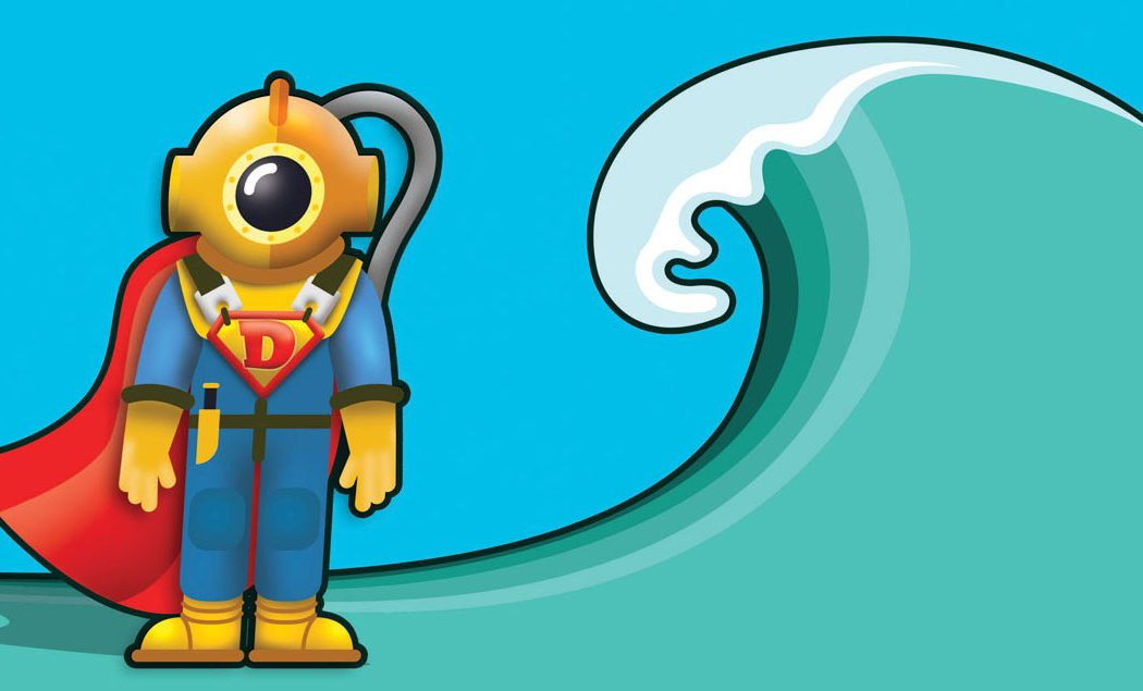 commercial diver super hero