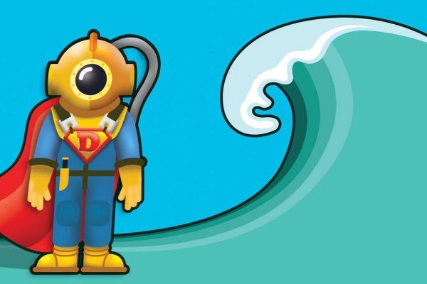 commercial diver super hero