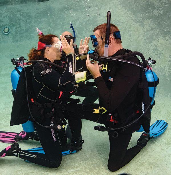 scuba skills air-sharing
