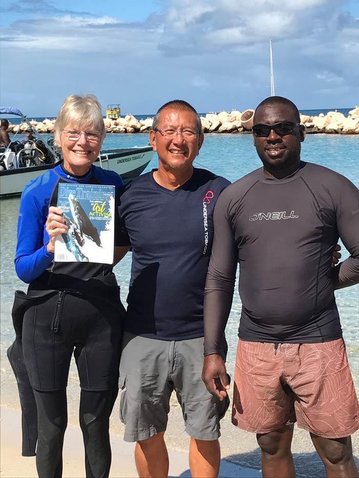 scuba divers Tobago